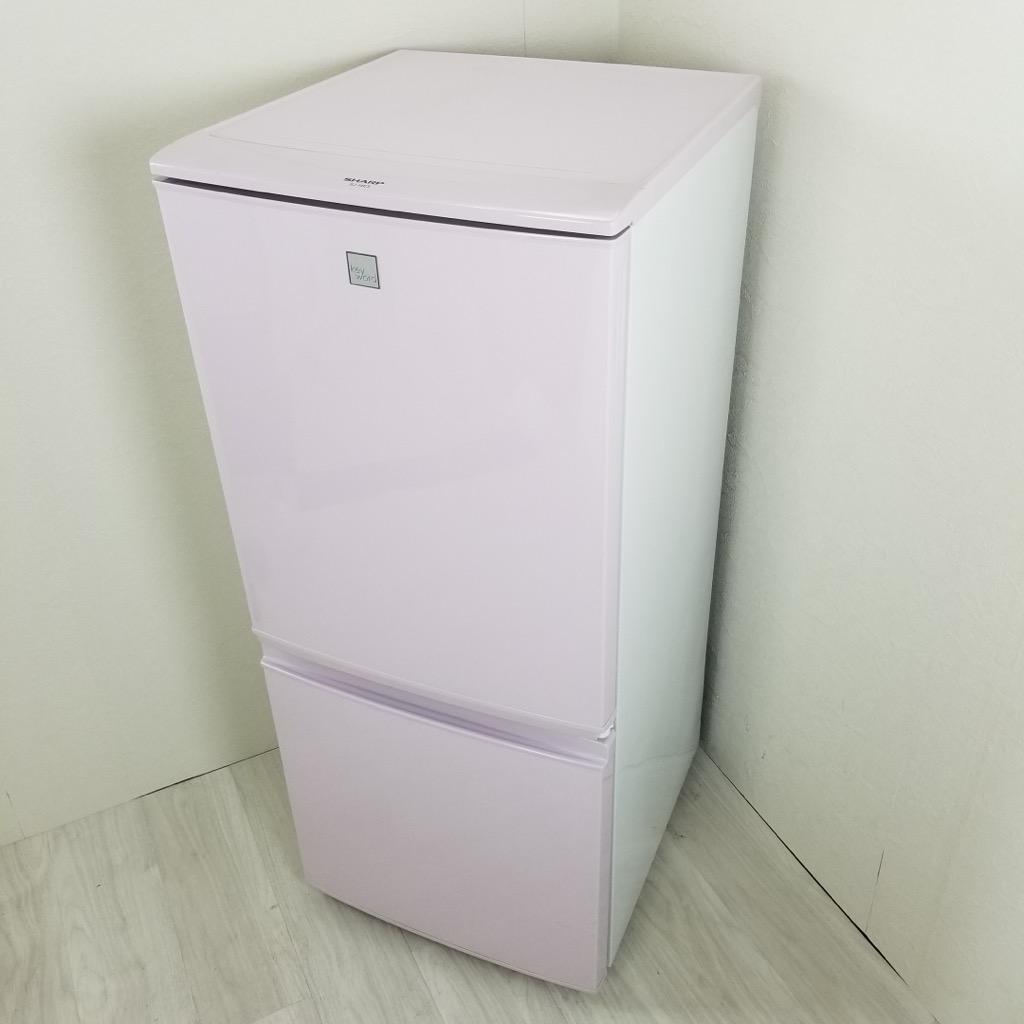 中古 137L 2ドア冷蔵庫 つけかえどっちもドア シャープ SJ-14E3-KP キーワード 2016年製 ピンク系 単身用 一人暮らし用 学生 かわいい 6ヶ月保証付き【型番掲載商品】
