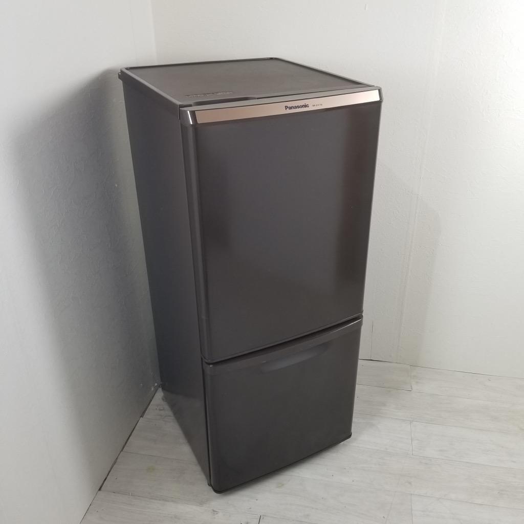中古  2ドア冷蔵庫 自動霜取りファン式 138L パナソニック 2014年〜2015年製 一人暮らし 単身用 ブラウン 6ヶ月保証付き【型番掲載商品】