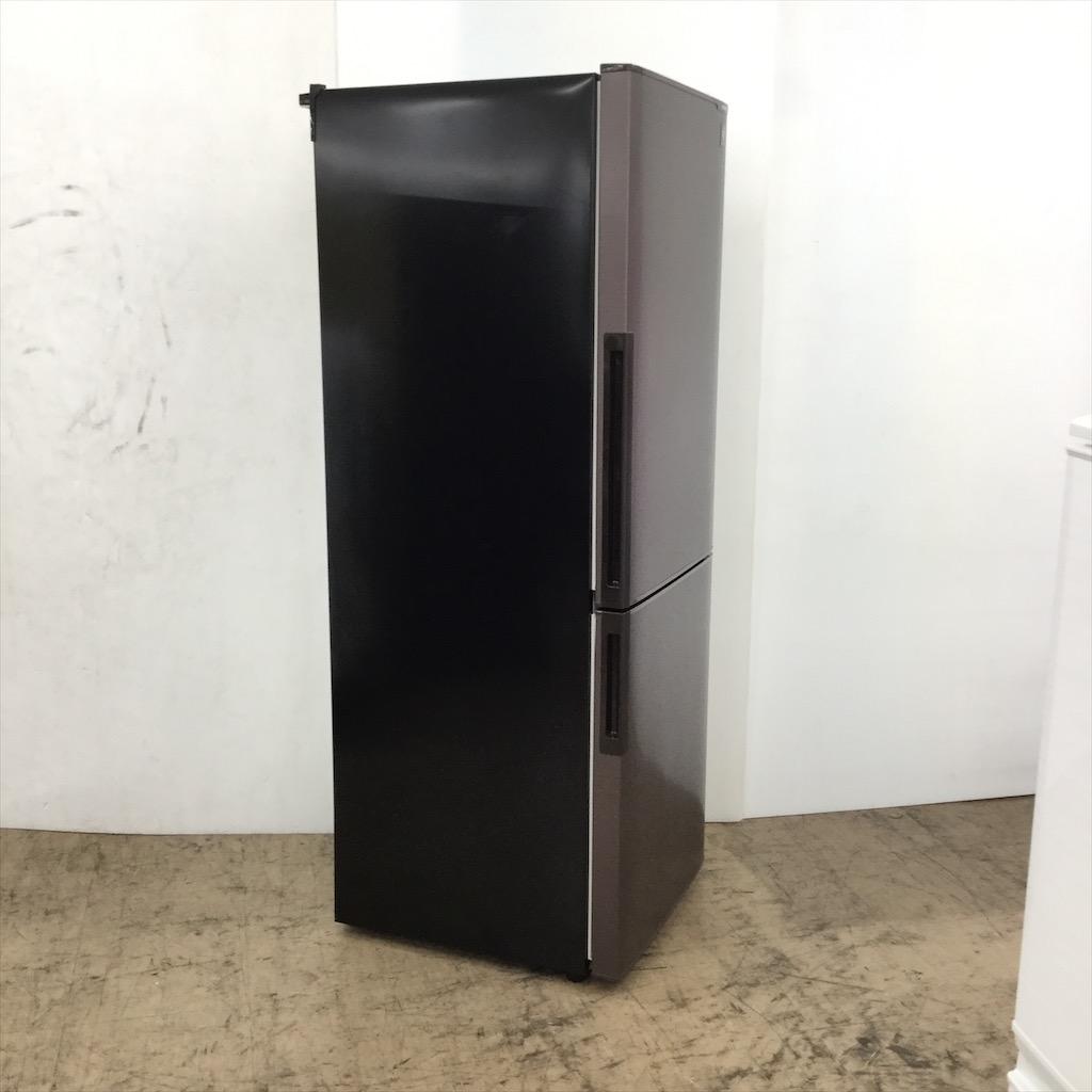 中古 店舗近郊送料格安 プラズマクラスター 271L 2ドア冷蔵庫 シャープ SJ-PD27A-T 2015年製 ブラウン 6ヶ月保証付き
