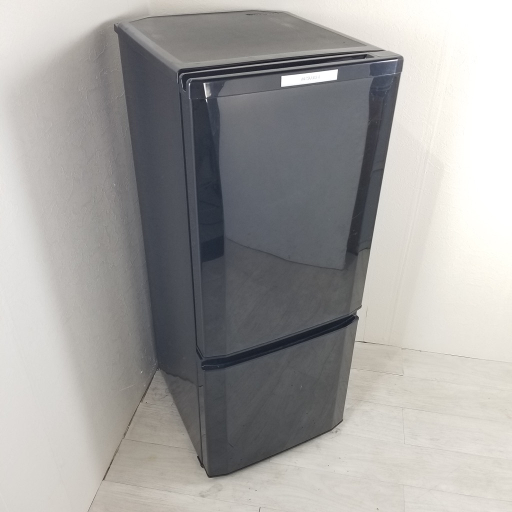 中古  146L 2ドア冷蔵庫 三菱電機 MR-P15X-B 2014年製 ブラック 自動霜取りファン式 一人暮らし 単身用 6ヶ月保証付き