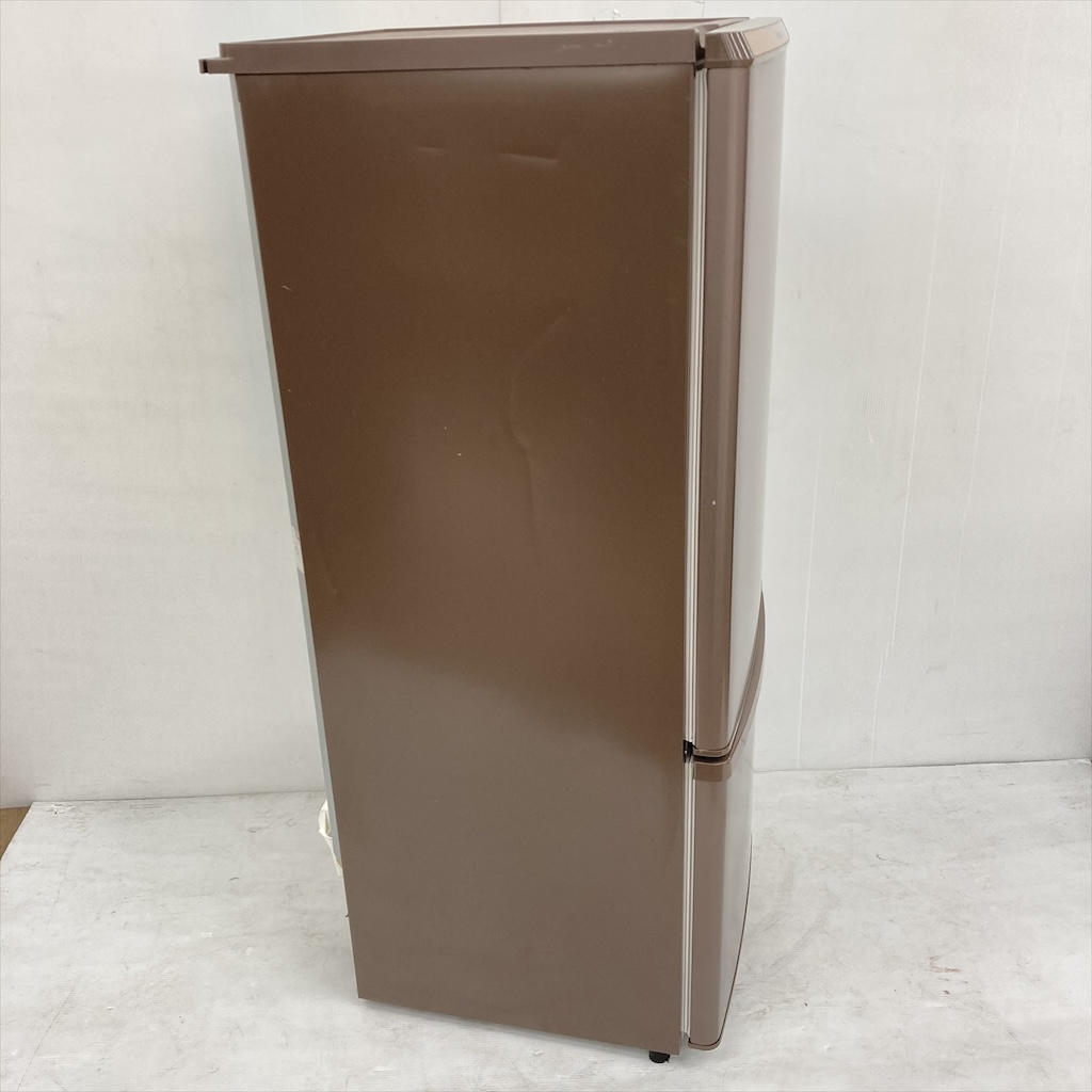 中古  168L 2ドア冷蔵庫 人気のブラウンカラー パナソニック NR-B178W-T 2016年製 6ヶ月保証付き