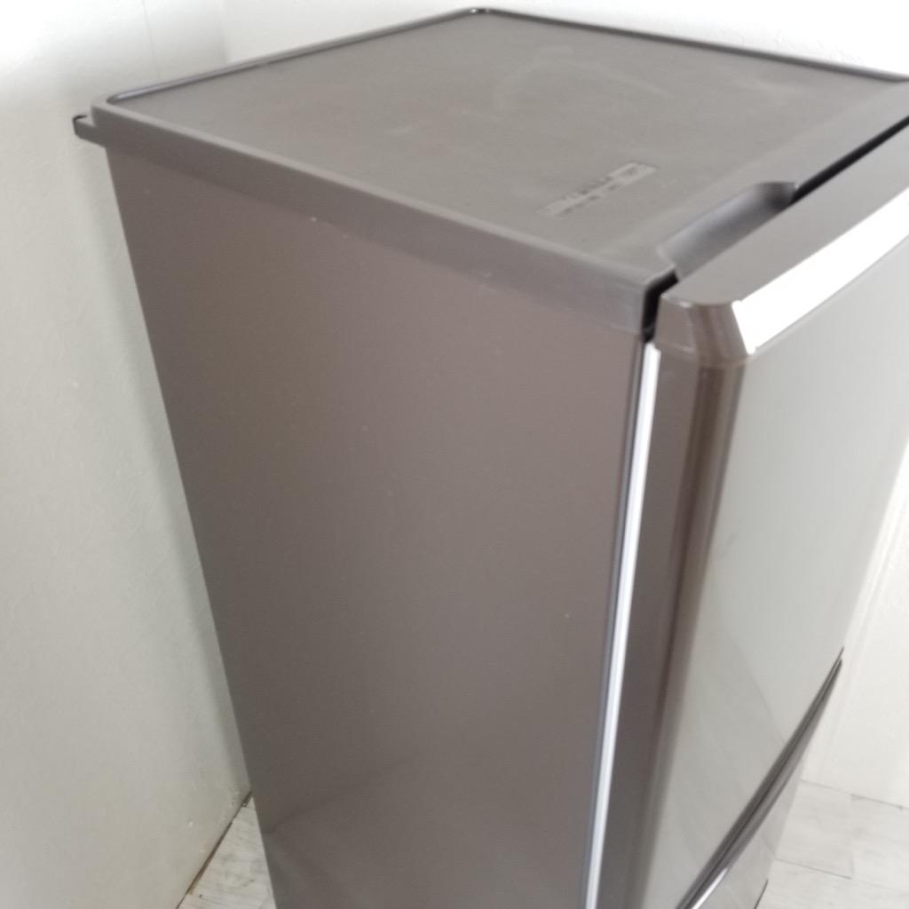 中古  138L 2ドア冷蔵庫 パナソニック NR-B146W-T 2014年製 ブラウン 自動霜取りファン式 一人暮らし 単身用 6ヶ月保証付き