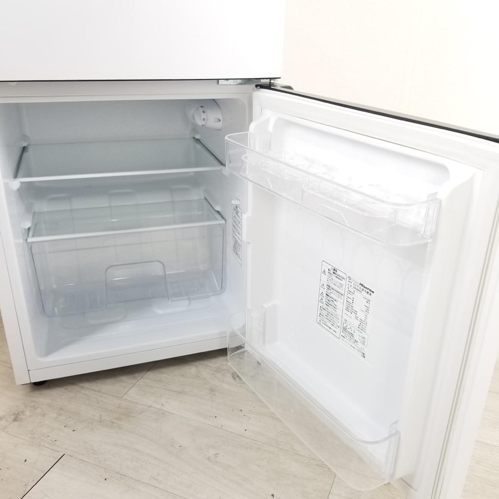 中古 高年式 93L ホワイト 2ドア冷蔵庫 ハイセンス HR-B95A 2018年製 単身用 小型 ワンルーム 6ヶ月保証付き