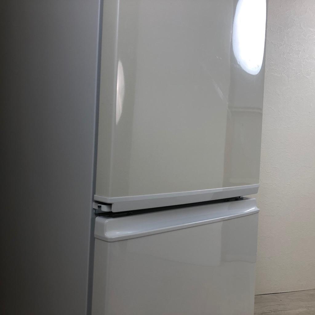 中古  137L 2ドア冷蔵庫 つけかえどっちもドア シャープ SJ-14Y-W 自動霜取ファン式 2013年製造 6ヶ月保証付き