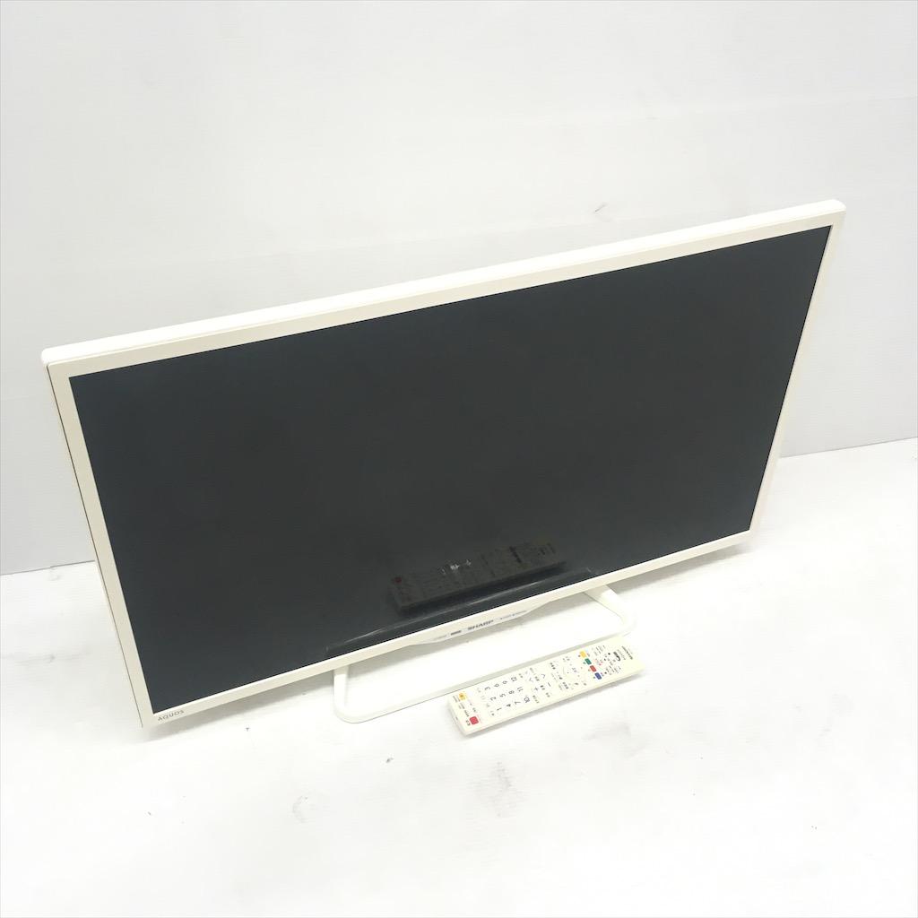 中古 シャープ 32型液晶テレビ LC-32W35-W ホワイト 2016年製 外付HDD録画対応 無線LAN内蔵