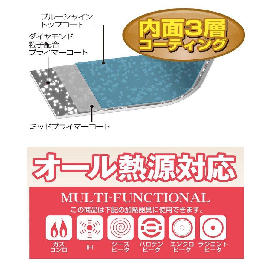 フライパン・鍋5点セット ガス・IH対応 取っ手がとれる ルクスパン ブルーダイヤモンドコート 3層コーティング 鍋 フライパン