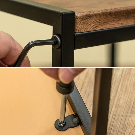 【サブスク専用】3カラー ネストテーブル コンパクト収納可 使いたい時にサッと出し入れ ABR BK OAK