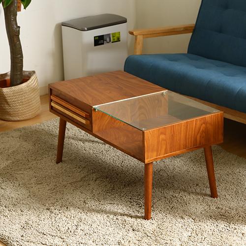 【サブスク専用】ディスプレイと収納のおしゃれな機能的なテーブル リビングテーブル