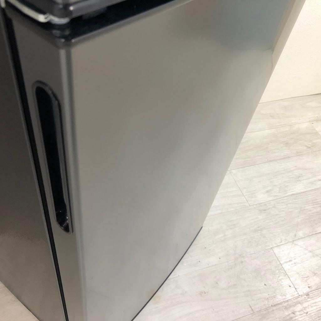 中古 高年式  左開き 138L 2ドア冷蔵庫 maxzen マクスゼン JR138ML01GM ブラック ガンメタリック 一人暮らし 単身用 2019年製 6ヶ月保証付き