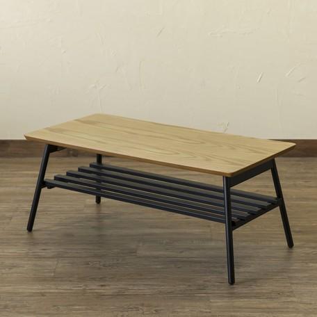 【サブスク専用】アンティーク調 折り畳みテーブル 3カラーから選べる ABR/OAK/WAL