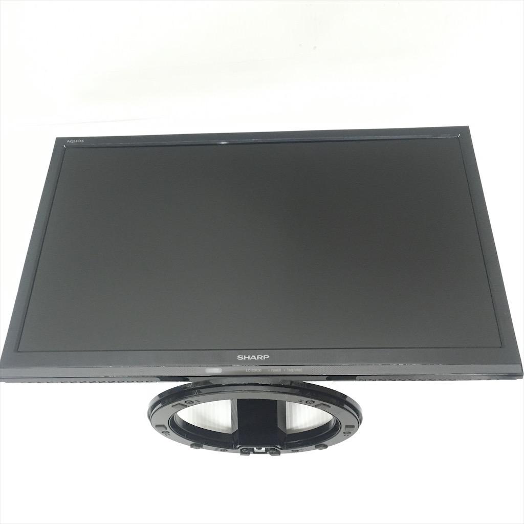 中古 保証付き シャープ 22型LED液晶テレビ LC-22K30 2016年製 ブラック 外付けHDD録画対応
