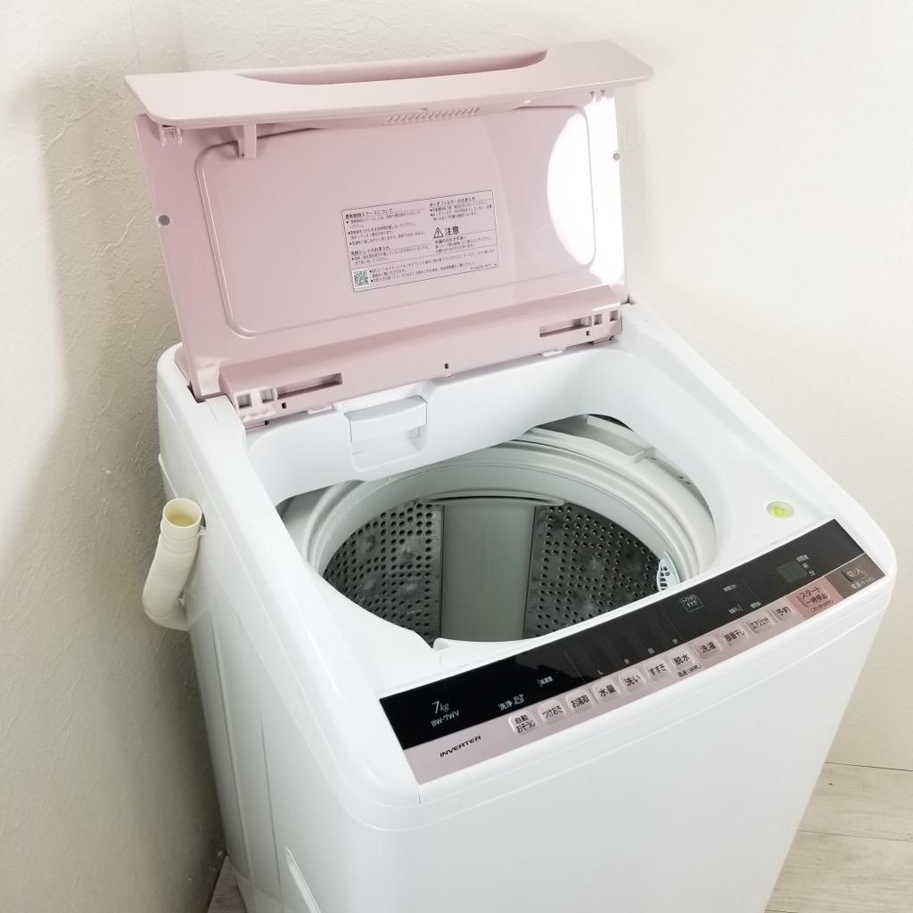 中古 希少 7.0kg 送風乾燥機能搭載 全自動洗濯機 ビートウォッシュ 2015年〜2016年製造 ピンク 一人暮らし 二人暮らし まとめ洗い 人気 かわいい 6ヶ月保証付き【型番掲載商品】