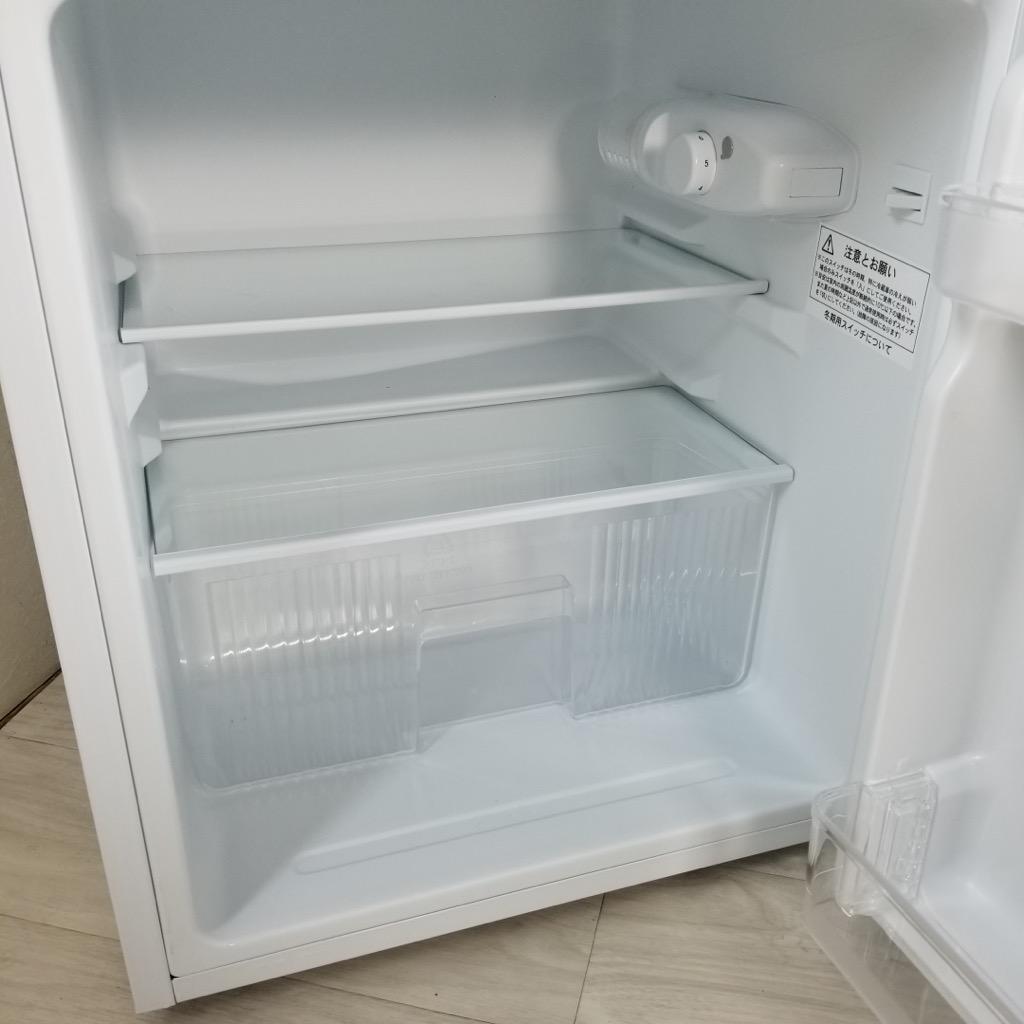 中古 高年式 2ドア冷蔵庫 小型 90L ユーイング 2017年〜2018年製 ホワイト 単身用 小さい 一人暮らし用 学生 6ヶ月保証付き【型番掲載商品】