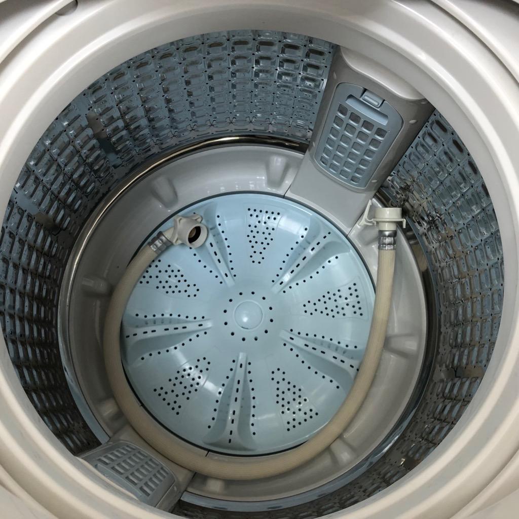 中古  アクア ガラストップ 7.0kg 全自動洗濯機 送風乾燥機能 2017年製 ホワイト まとめ洗い 6ヶ月保証付き【型番掲載商品】