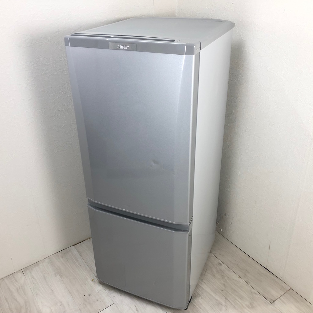 中古  146L 2ドア冷蔵庫 三菱電機 MR-P15C-S 2018年製 高年式 シルバーカラー 単身用 一人暮らし 6ヶ月保証付き