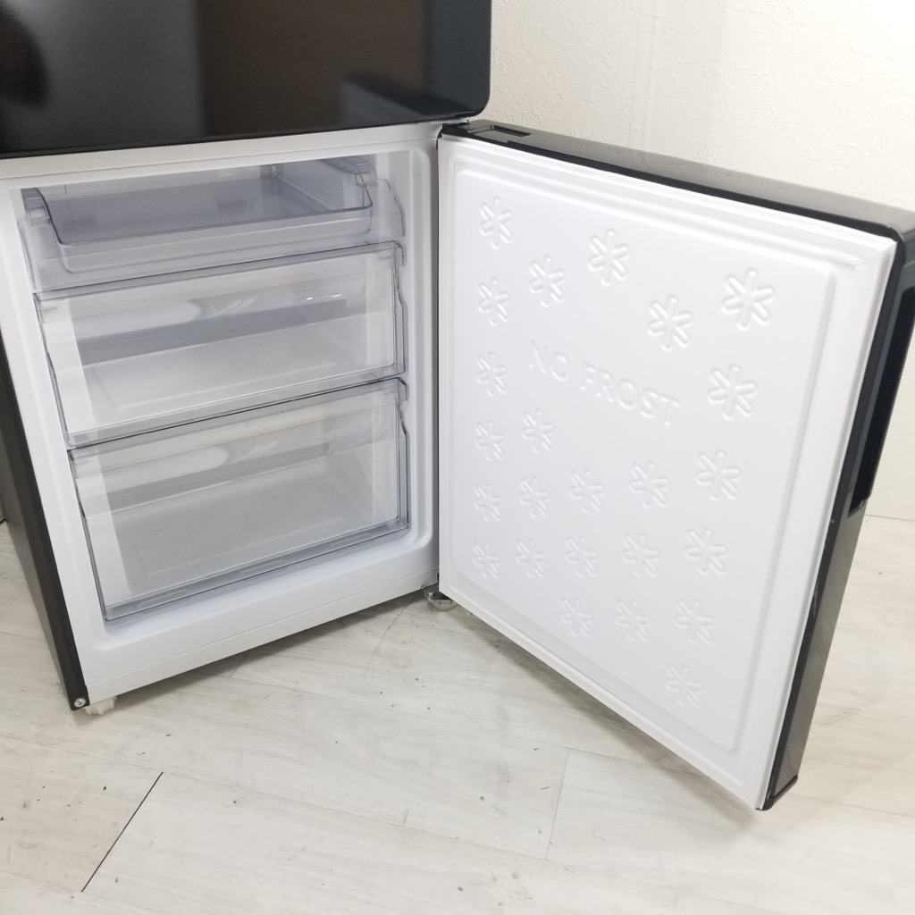 中古  148L 2ドア冷蔵庫 ハイアール 2017年〜2018年製 ブラック 自動霜取りファン式 6ヶ月保証付き【型番掲載商品】