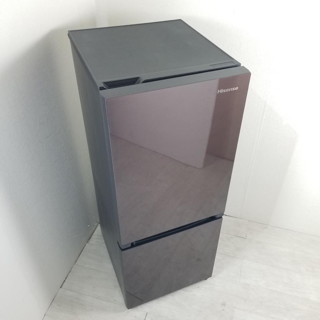 中古  154L 冷蔵庫 ハイセンス 2016年〜2018年製 ブラウン系 ガラスドア 自動霜取りファン式 一人暮らし 単身用 6ヶ月保証付き【型番掲載商品】