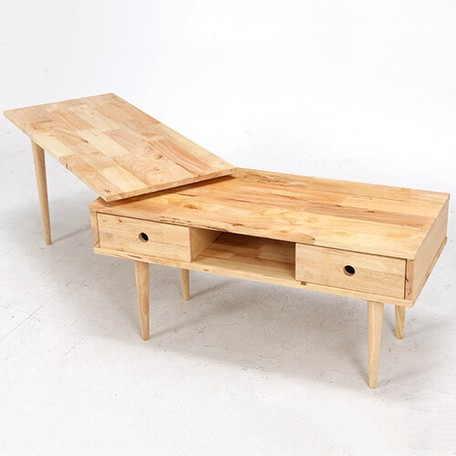 【サブスク専用】天然木を使用したナチュラルなテーブル一体型テレビボード