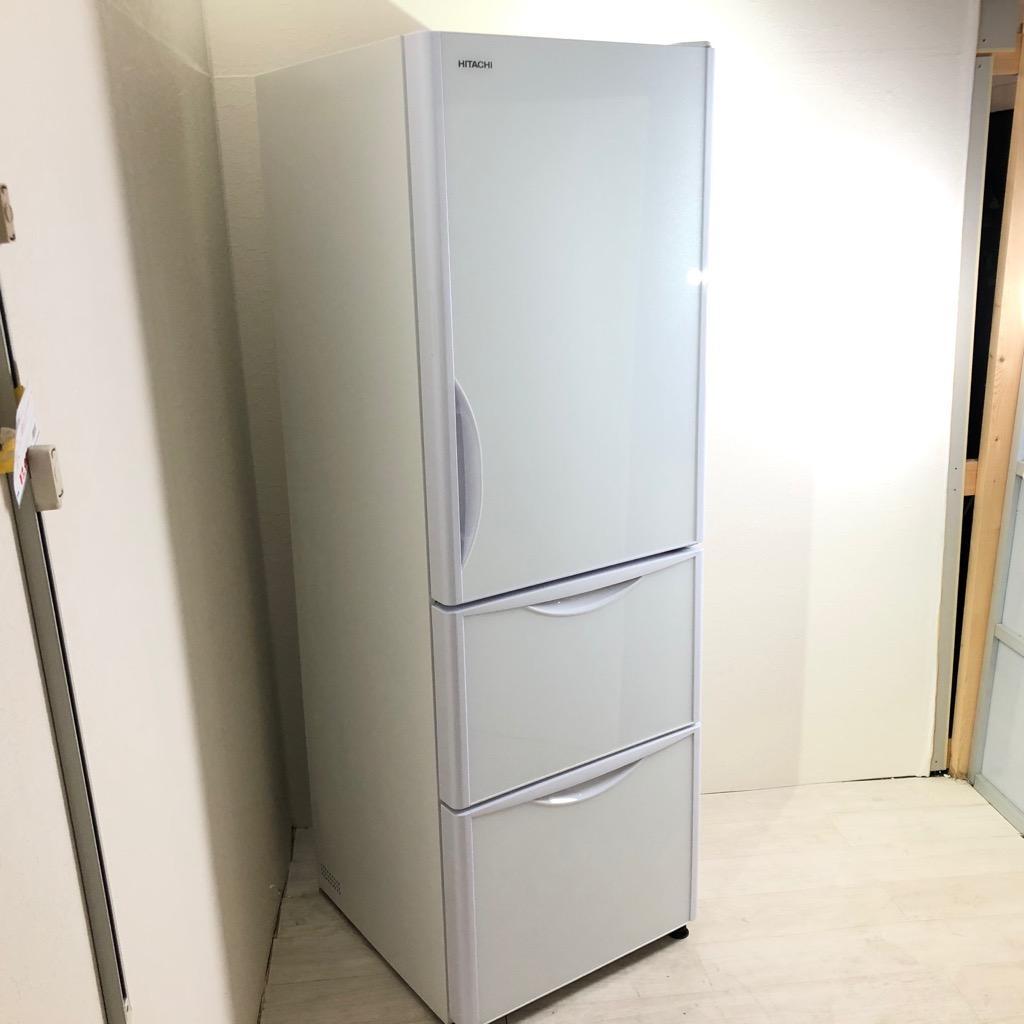 中古 高年式 375L 真空チルド搭載 3ドア冷蔵庫 日立 R-S38JV-XW2018年製 自動製氷 クリスタルホワイト まとめ買い ファミリーサイズ 6ヶ月保証付き