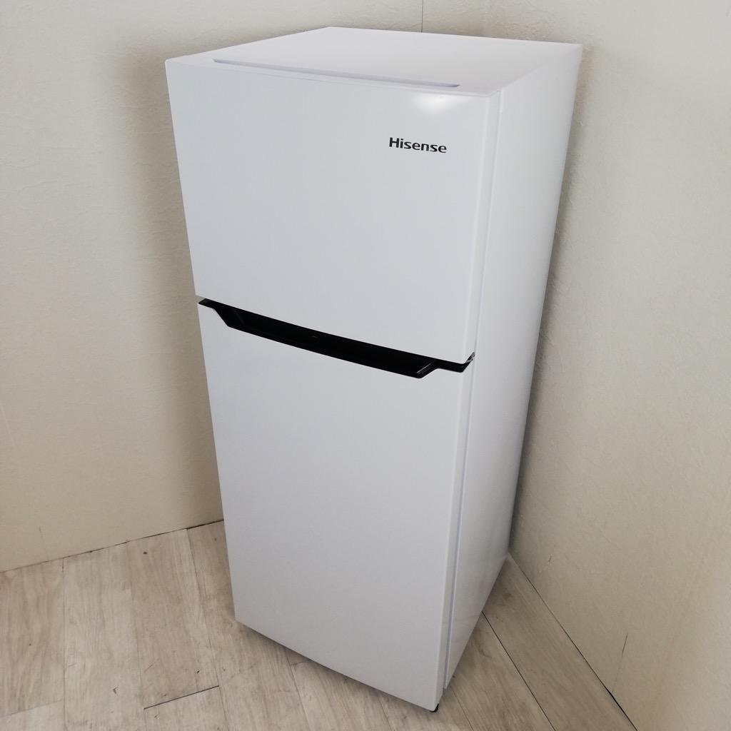 中古 120L ホワイト 2ドア冷蔵庫 ハイセンス 2018年製 ホワイト 単身用 一人暮らし用 新生活家電 6ヶ月保証付き【型番掲載商品】
