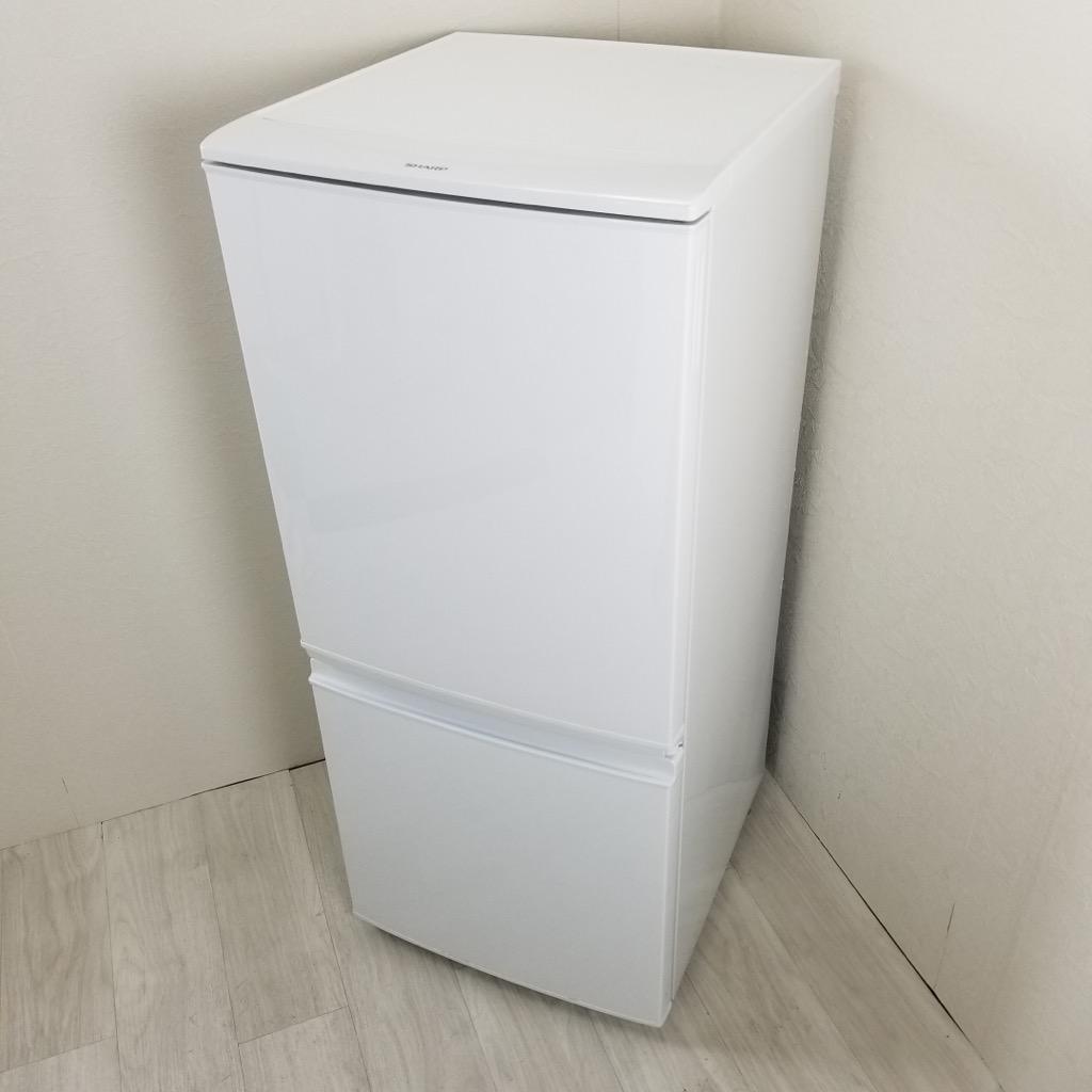 中古  137L つけかえどっちもドア ホワイト 2ドア冷蔵庫 シャープ 2014年〜2015年製 自動霜取りファン式 6ヶ月保証付き【型番掲載商品】
