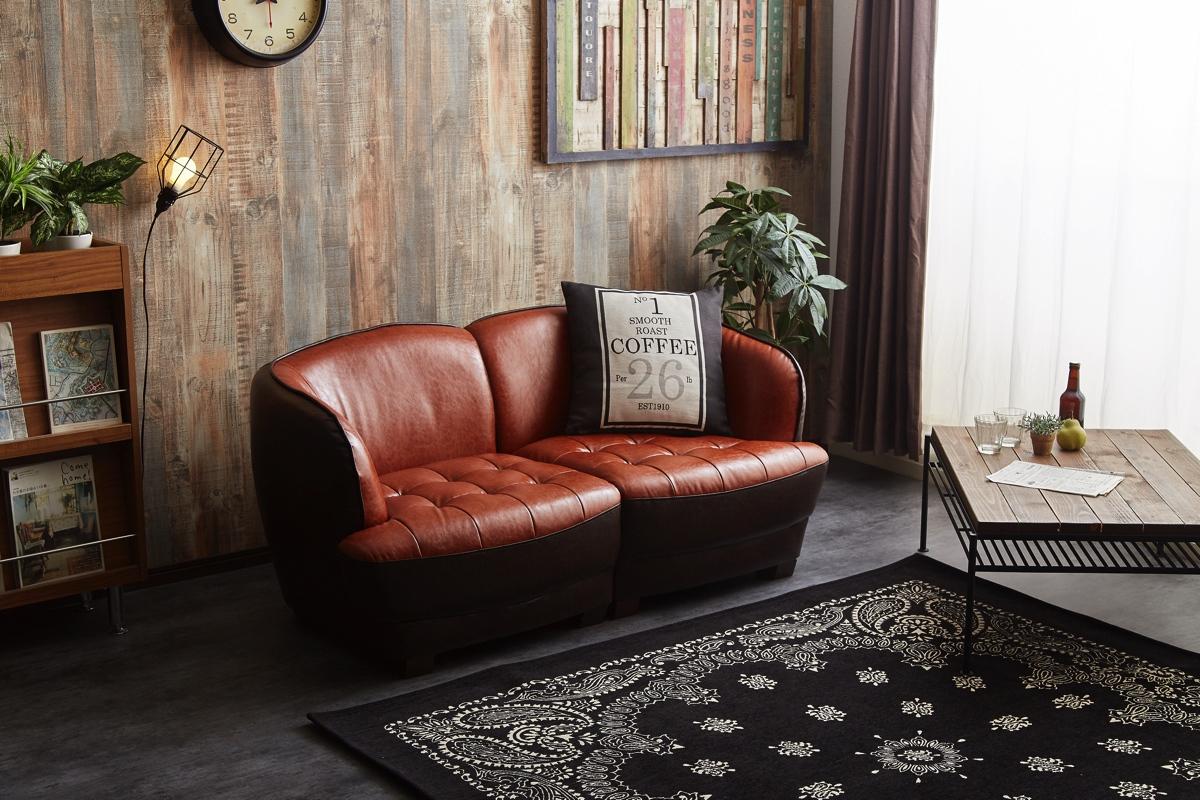 【サブスク専用】高級感ある2人掛けソファー 一人掛けソファ×2として対面式でも使用可