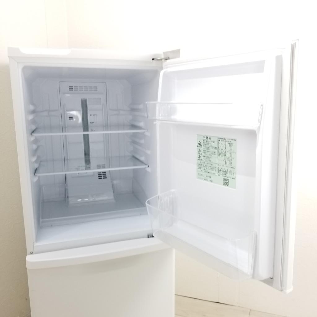 中古  138L 2ドア冷蔵庫 NR-B14BW-W 2019年製 自動霜取りファン式 ホワイト 右開き 一人暮らし 単身用 6ヶ月保証付き