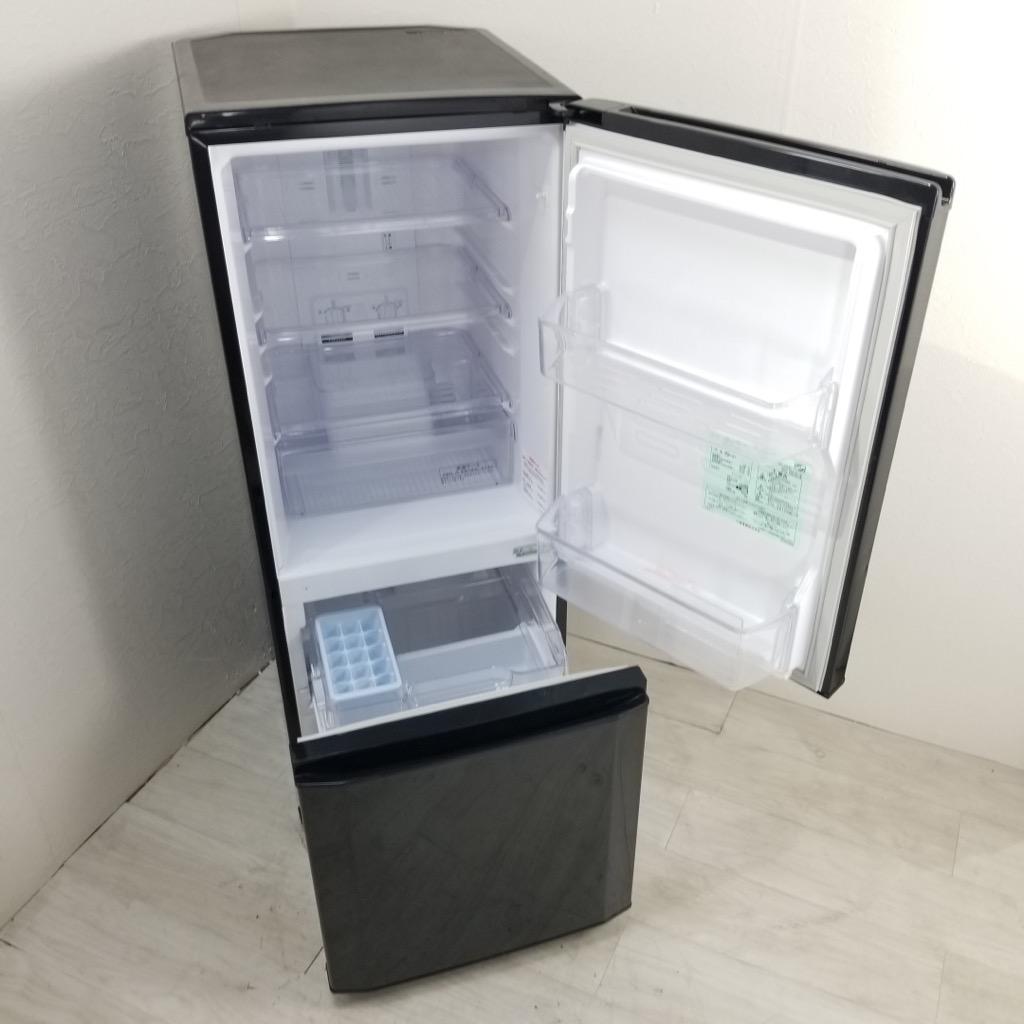 中古  146L 2ドア冷蔵庫 三菱電機 MR-P15X-B 2013年製 ブラック 自動霜取りファン式 一人暮らし 単身用 6ヶ月保証付き