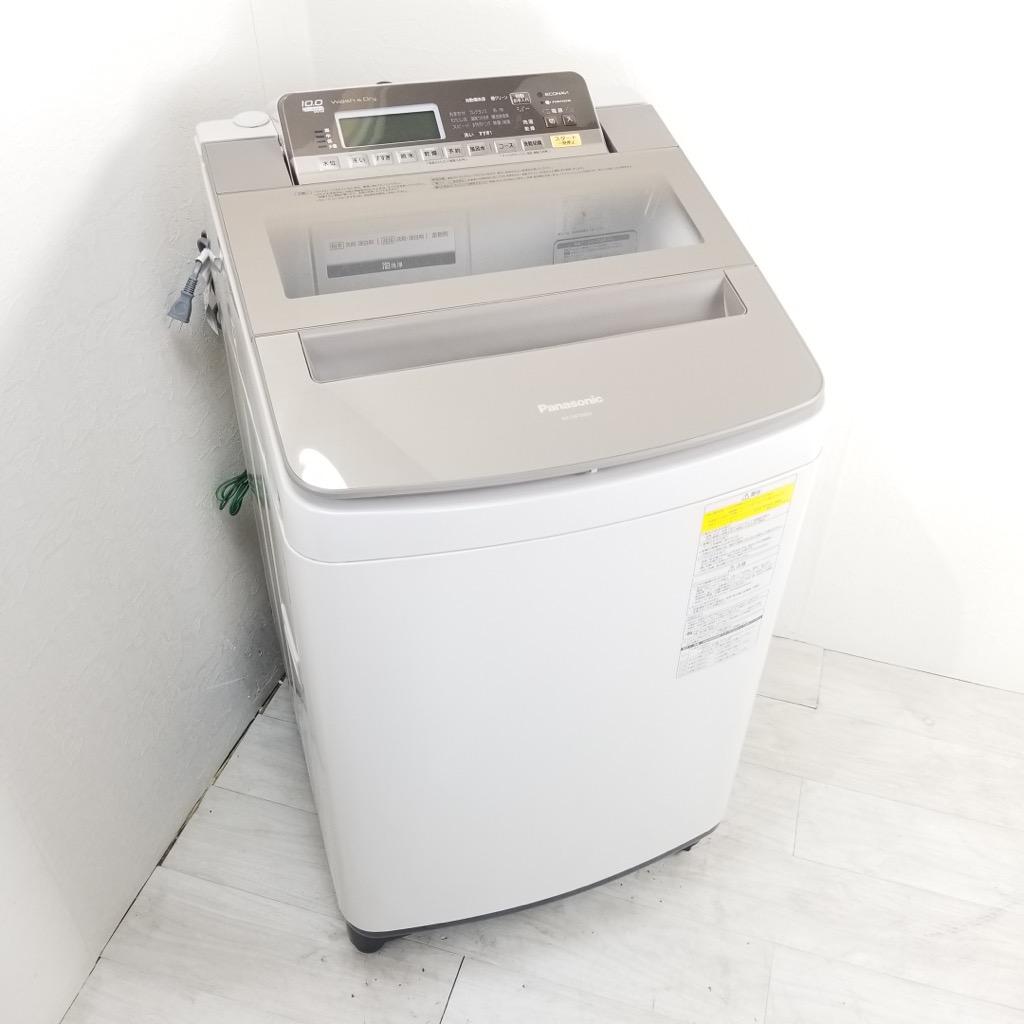 中古 店舗近郊送料格安 洗濯10.0kg 乾燥5.0kg 全自動洗濯乾燥機 パナソニック エコナビ NA-FW100S5 2017年製 大容量 世帯用 ファミリー まとめ洗い 6ヶ月保証付き