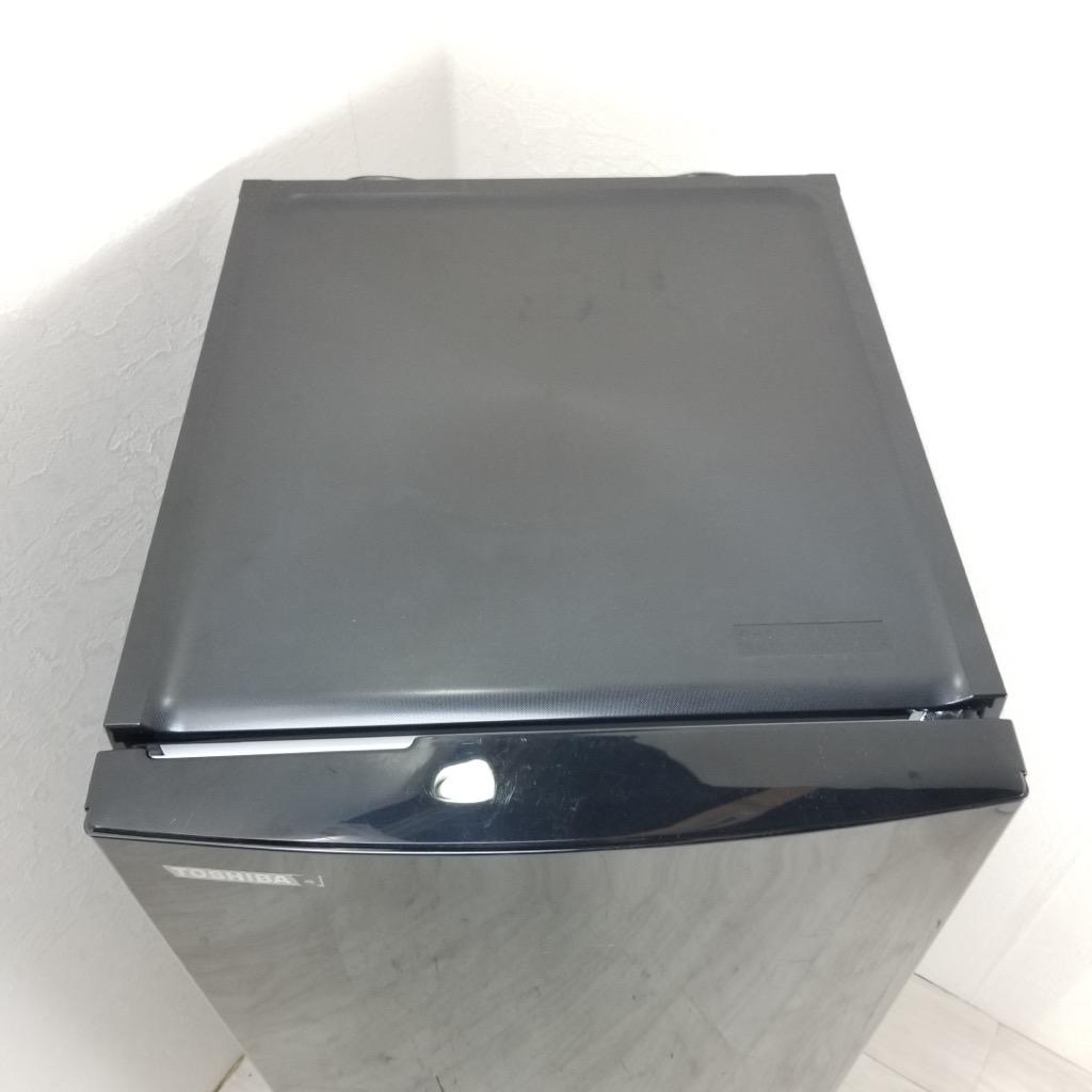 中古  東芝 153L 2ドア冷蔵庫 GR-M15BS-K 2017年製 ブラック 6ヶ月保証付き