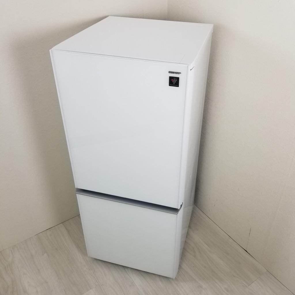 中古 高年式 137L ガラスドア 2ドア冷蔵庫 シャープ 2017年製 つけかえどっちもドア 自動霜取りファン式 かっこいい きれい 単身用 一人暮らし用 かわいい プラズマクラスター 6ヶ月保証付き【型番掲載商品】