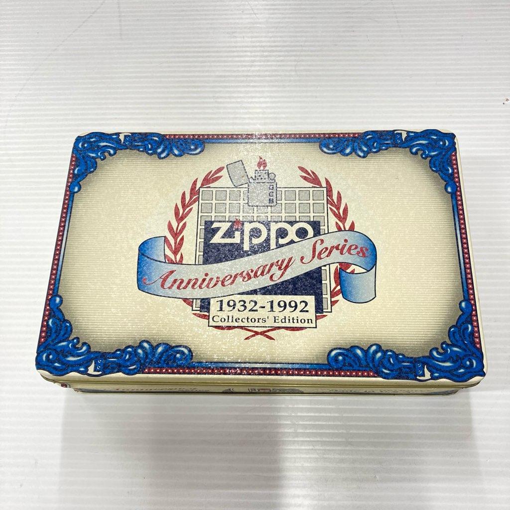 中古 ZIPPO 60th Anniversary Series Collectors Edition 1932-1992 缶ケース バッヂ未開封 未着火品