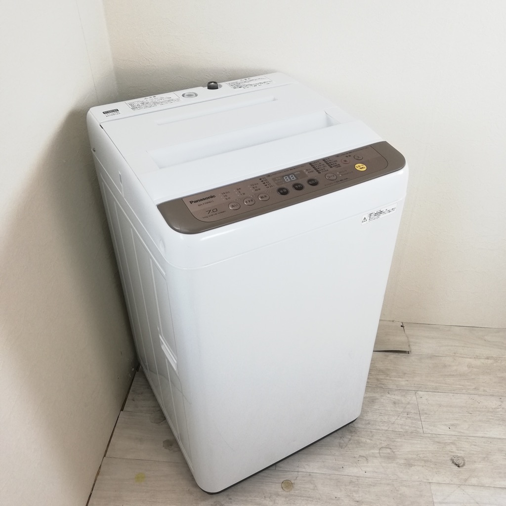 中古 高年式  7.0kg 全自動洗濯機 パナソニック 2017〜18年製造 送風乾燥機能 節水 6ヶ月保証付き【型番掲載商品】