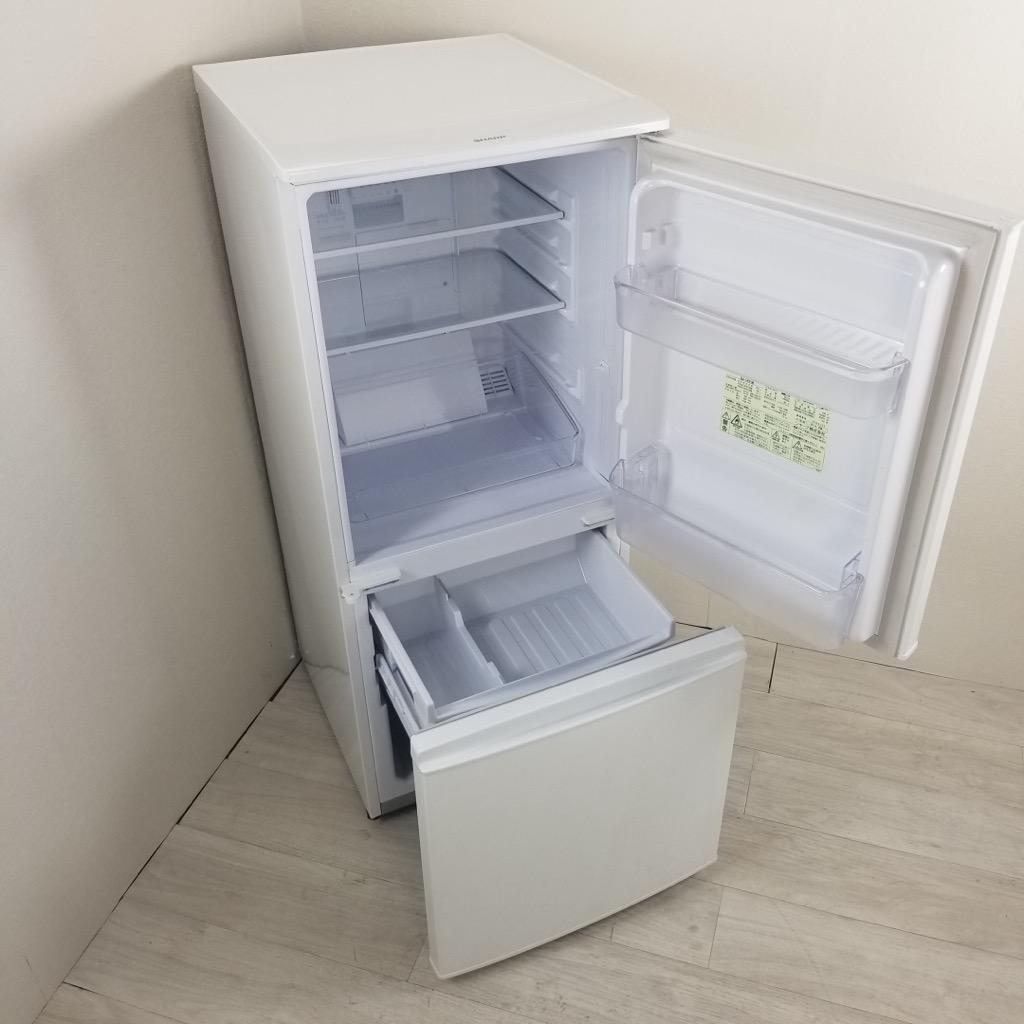 中古 137L 2ドア冷蔵庫 つけかえどっちもドア シャープ SJ-14Y-W 自動霜取ファン式 2013年〜2014年製 新生活家電 単身用 人気 SHARP 6ヶ月保証付き【型番掲載商品】