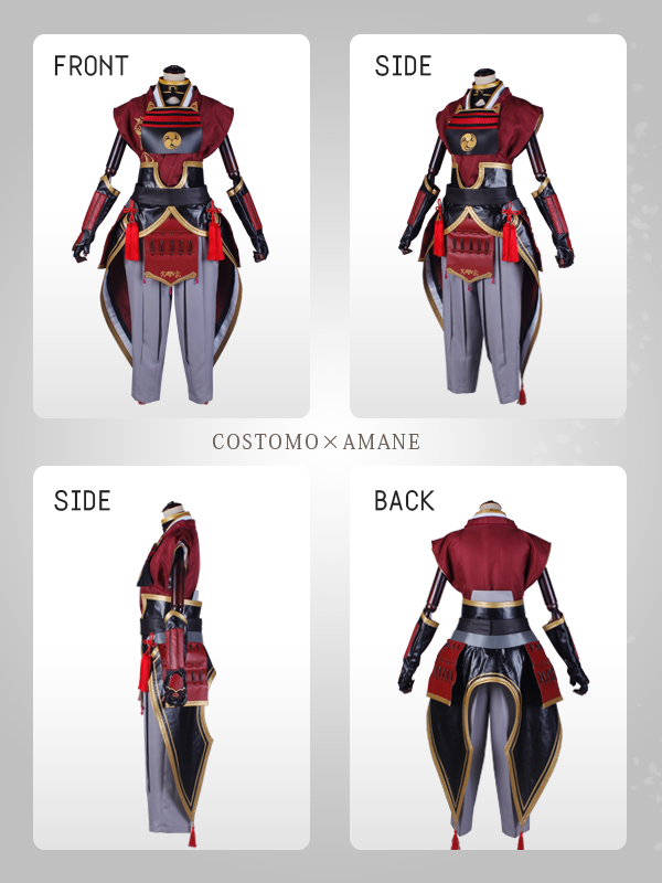 【SALE】【送料無料】 とうらぶ風 羽織×着物(紅)×防具セット 兼定 極