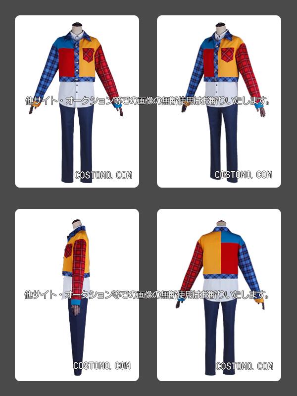 【送料無料】  チェック柄特注プリント生地使用 衣装セット 乱数(2)
