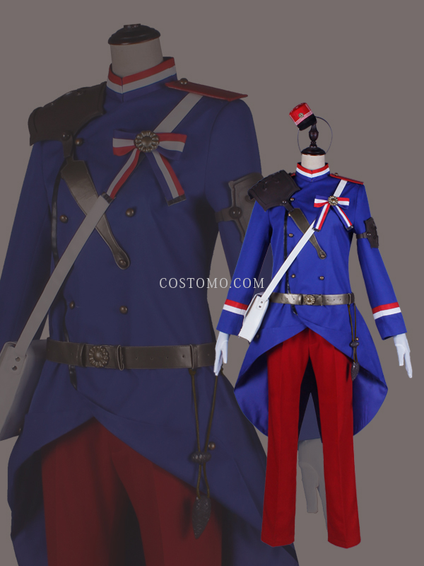 【送料無料】 ブルー×レッド×ホワイト  防具・バック付き シャスポー