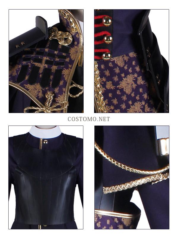 【SALE】【送料無料】 とうらぶ風 濃い紫×黒 防具付き へし切【極】