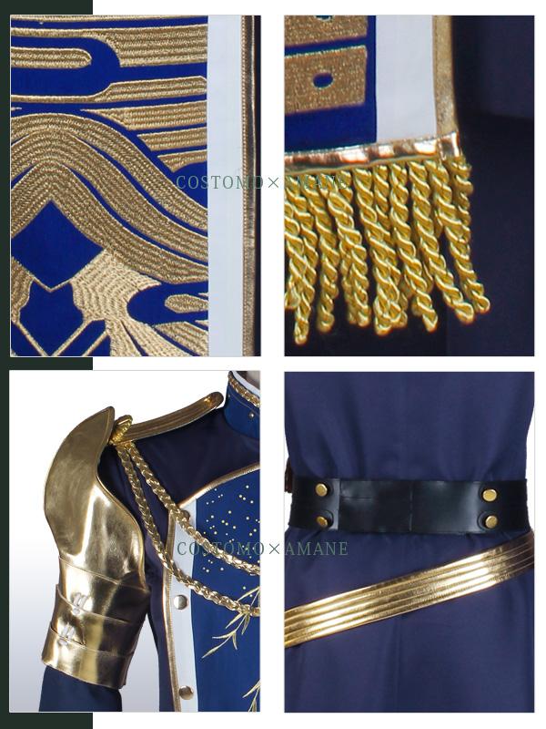 【SALE】【送料無料】 とうらぶ風 グラデ羽織風肩マント・刺繍仕立ての衣装セット 極ver 青江