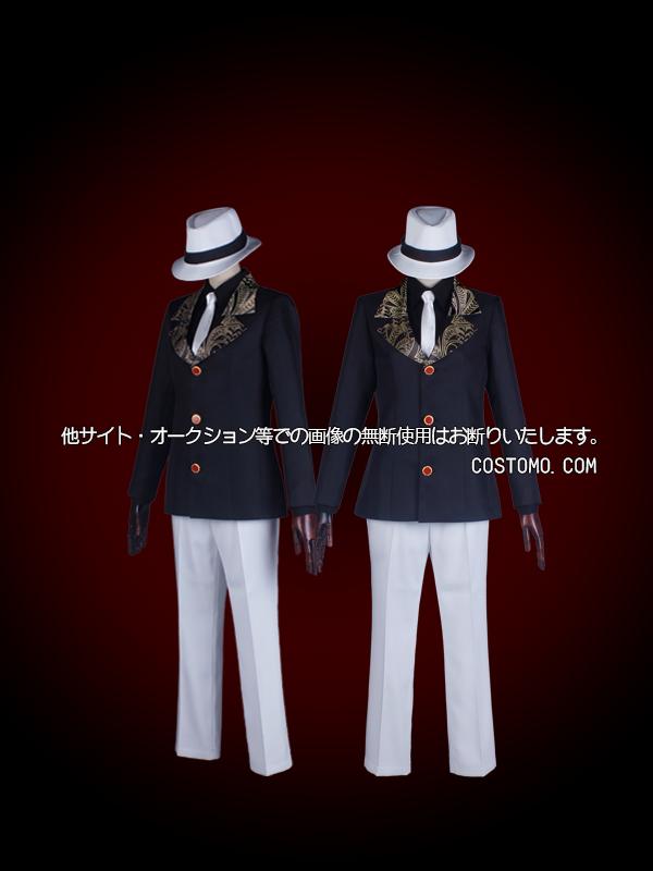 【送料無料】 プリント生地とボタン特注ブレザーセット 帽子付き 【無惨】