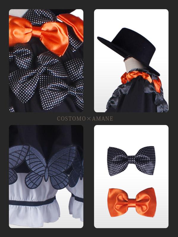 【送料無料】黒×蝶々×リボンワンピース・帽子つき アビゲイル