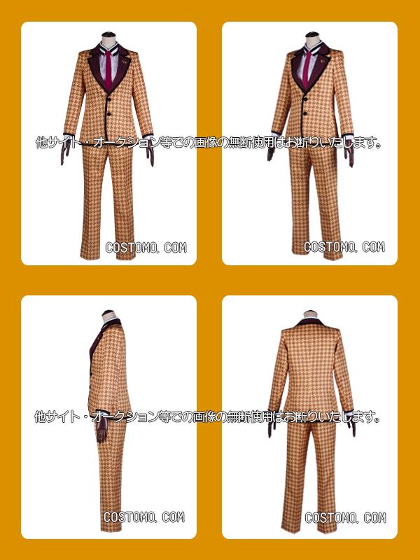 【送料無料】 千鳥柄スーツセット ブラウン×オレンジ ささら
