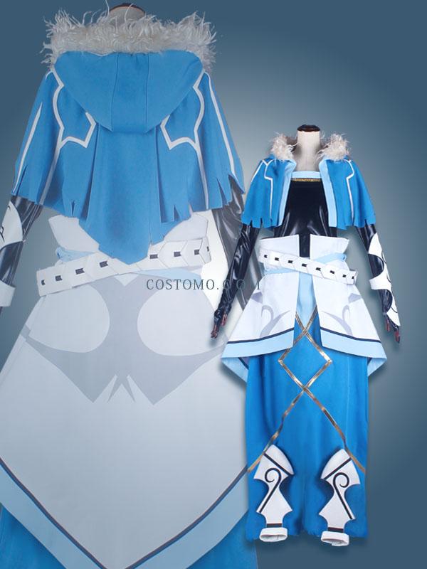 【送料無料】 水色×白 クーフーリン風(キャスター)衣装
