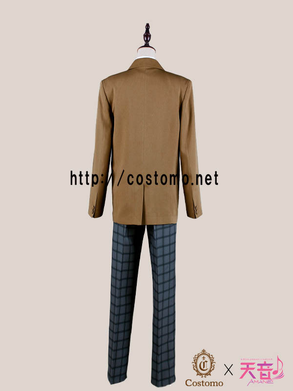 【送料無料】 テニス向きコスプレ衣装 キャラメルブラウン×グレーチェックの制服セット 氷帝