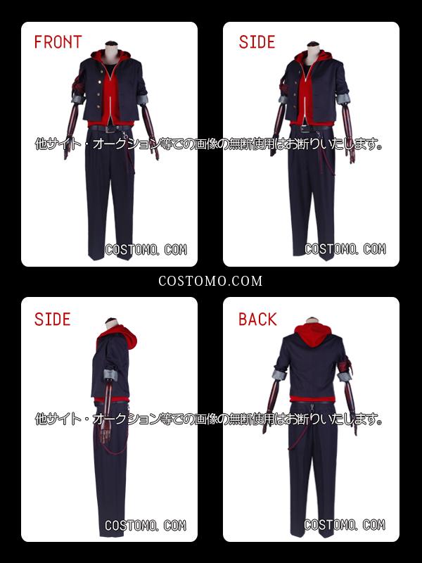 【送料無料】 黒×赤パーカー×バンダナ 一郎【学ラン】