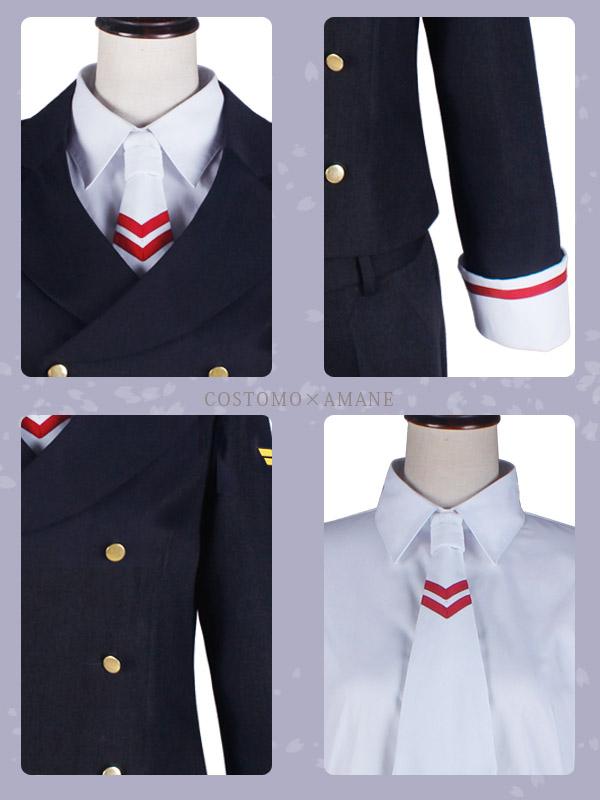 【送料無料】 ※数量限定商品※ 黒×白×赤 さくら風男子制服