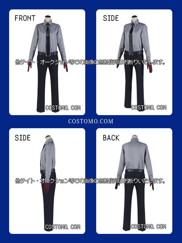 【送料無料】黒×赤 スーツセット・ホルダー付き 銃兎