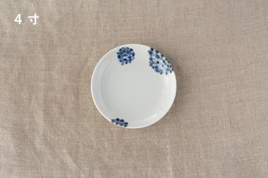 【生産終了】点描丸花 平皿 (九谷青窯・三宅英雅)