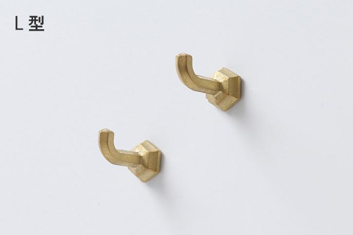 真鍮鋳肌のマグネットフック (FUTAGAMI)