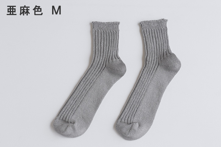 リネンリブソックス (西口靴下)